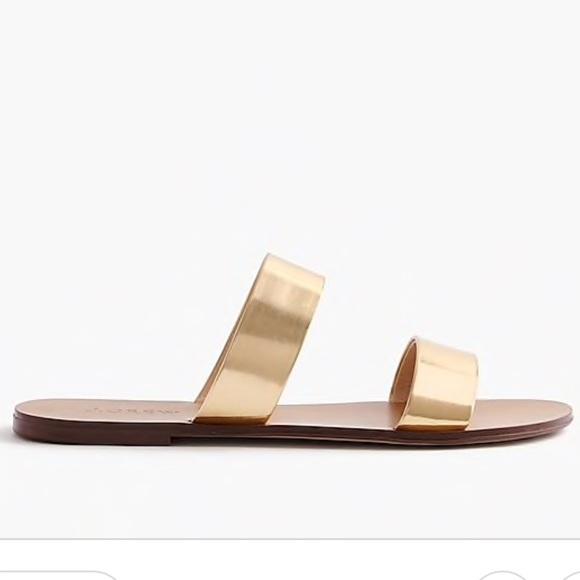 020f33fae27d6 J. Crew Shoes - J crew Malta gold two strap mirrored sandals